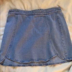 PacSun Blue Denim Skirt Sz 28